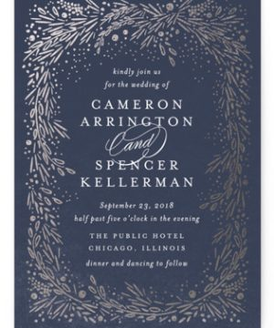 Folio Foil-Pressed Wedding Invitations