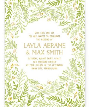 Gathering Of Leaves Wedding Invitations