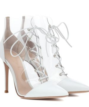 Icon leather-trimmed ankle boots