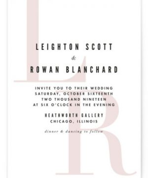 Initialed Wedding Invitations