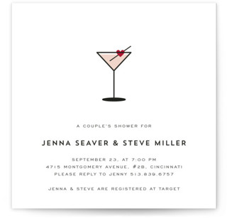 Love Cocktail Bridal Shower Invitations
