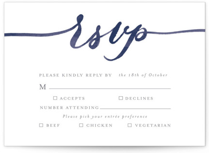 Love RSVP Postcards