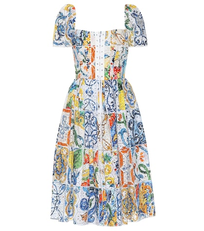 Majolica broderie anglaise dress