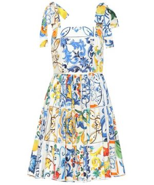 Majolica sleeveless cotton dress