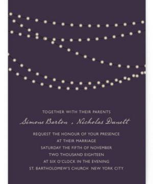 Midnight Vineyard Wedding Invitations