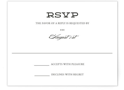 Mod Elegance Print-It-Yourself Wedding RSVP Cards
