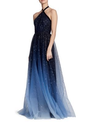Ombre Halter Gown