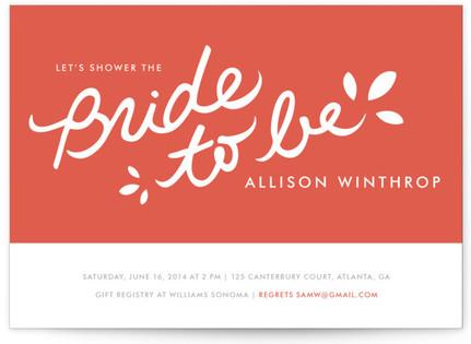 Orangina Bridal Shower Invitations