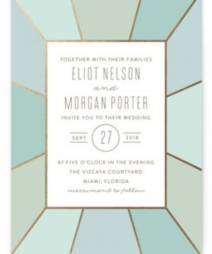 Pavilion Foil-Pressed Wedding Invitations