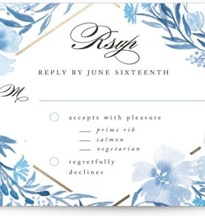 Poetic Blue RSVP Postcards