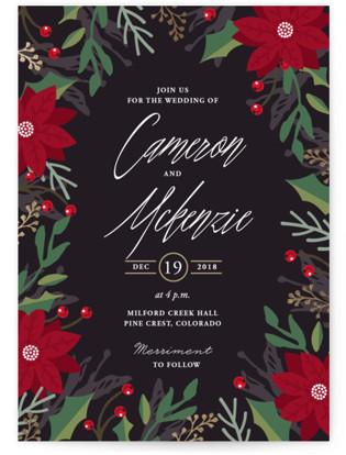 Poinsettia Garden Wedding Invitations