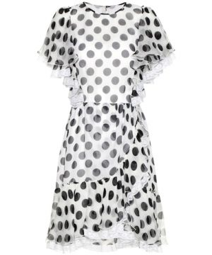 Polka-dotted silk dress