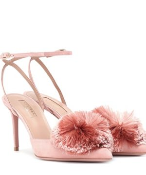 Powder Puff Sling 85 suede pumps