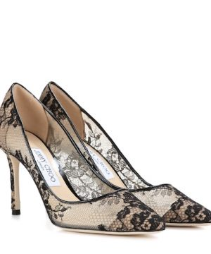 Romy 85 lace pumps