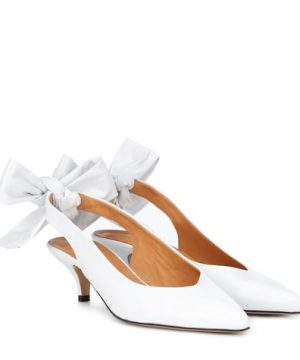 Sabine leather slingback pumps