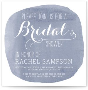 Simply Baby Bridal Shower Invitations