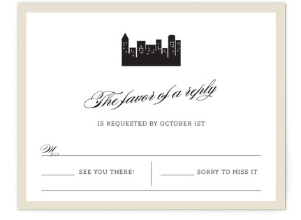 Skyscaper Print-It-Yourself Wedding RSVP Cards