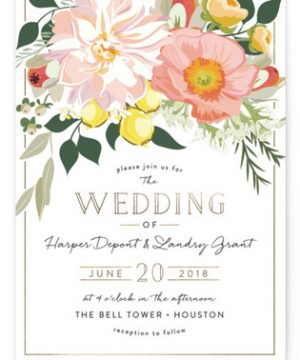 Spring Blooms Wedding Invitations