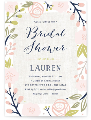 Spring Shower Bridal Shower Invitations