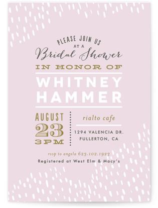 Sprinkled Bridal Shower Invitations
