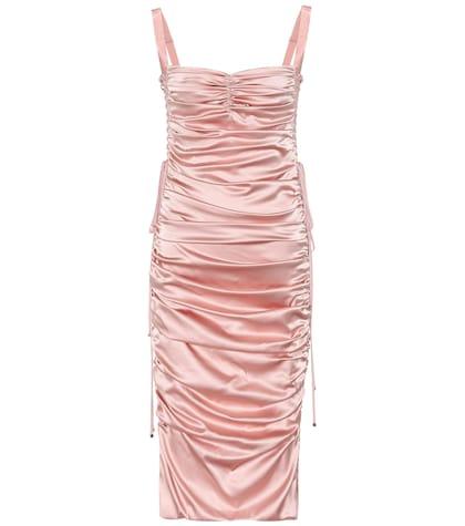 Stretch-silk midi dress