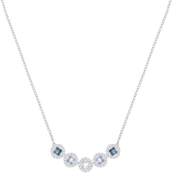 Swarovski Angelic Square Necklace, Blue, Rhodium plating
