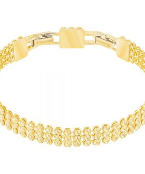 Swarovski Fit Bracelet, Golden, Gold Plating