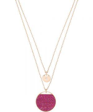 Swarovski Ginger Pendant, Pink, Rose gold plating
