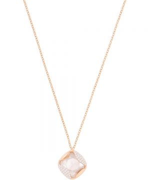 Swarovski Heap Pendant, Pink, Rose gold plating