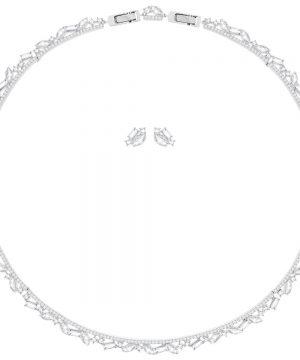 Swarovski Henrietta Set, Large, White, Rhodium plating