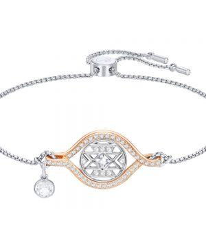 Swarovski Humanist Butterfly Bracelet, White, Mixed plating