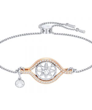 Swarovski Humanist Compass Bracelet, White, Mixed plating