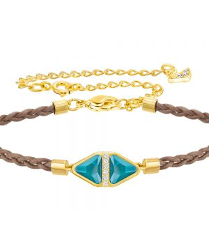 Swarovski Labyrinth Cord Bracelet, Multi-colored, Gold plating