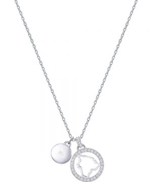 Swarovski Lena Hawaii Pendant, White, Rhodium plating