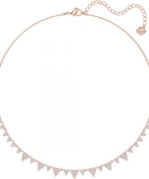 Swarovski Lima Necklace, White, Rose gold plating