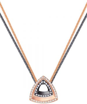 Swarovski Lovesome Triangle Pendant, White, Mixed plating