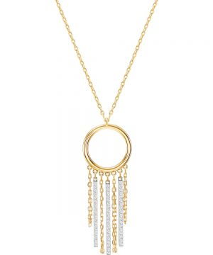 Swarovski Lyrebird Circle Necklace, White, Mixed plating