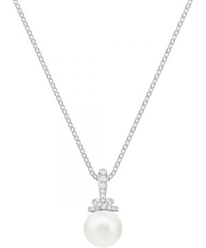 Swarovski Originally Pendant, White, Rhodium plating