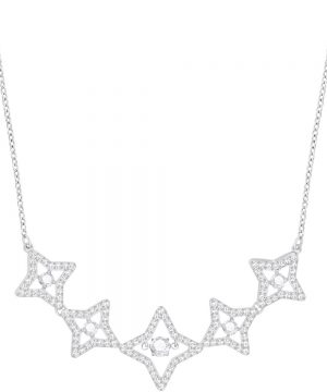 Swarovski Sparkling Dance Star Necklace, Medium, White, Rhodium plating
