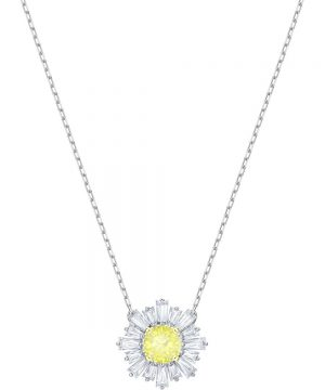 Swarovski Sunshine Pendant, Yellow, Rhodium plating