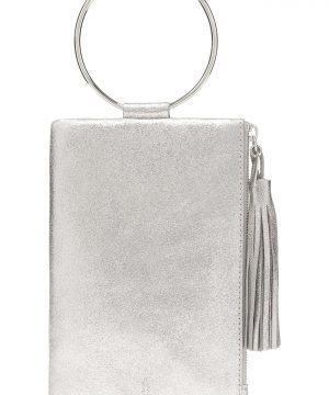 Thacker Nolita Ring Handle Leather Clutch - Metallic