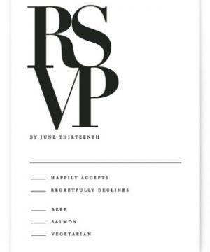 The Minimalist RSVP Postcards