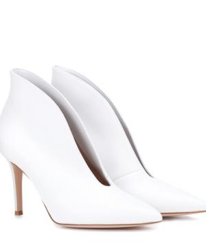 Vania 85 high-cut leather pumps