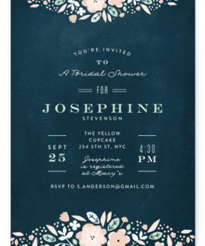 Vintage Chalk Bridal Shower Invitations