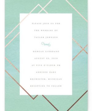 Watercolor Union Wedding Invitations