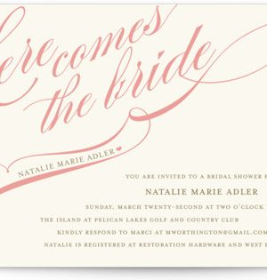 Winter Flourish Bridal Shower Invitations