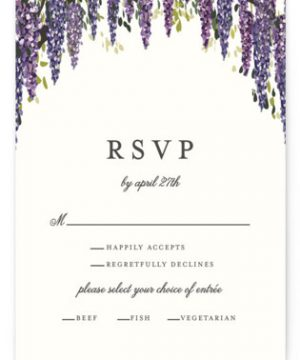 Wisteria Blooms RSVP Postcards