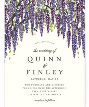 Wisteria Blooms Wedding Invitations