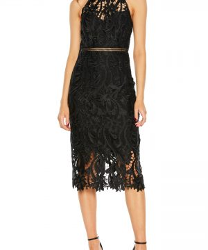 Women's Bardot Isa Lace Halter Dress