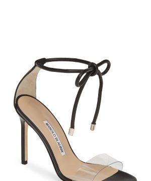 Women's Manolo Blahnik Estro Ankle Tie Sandal